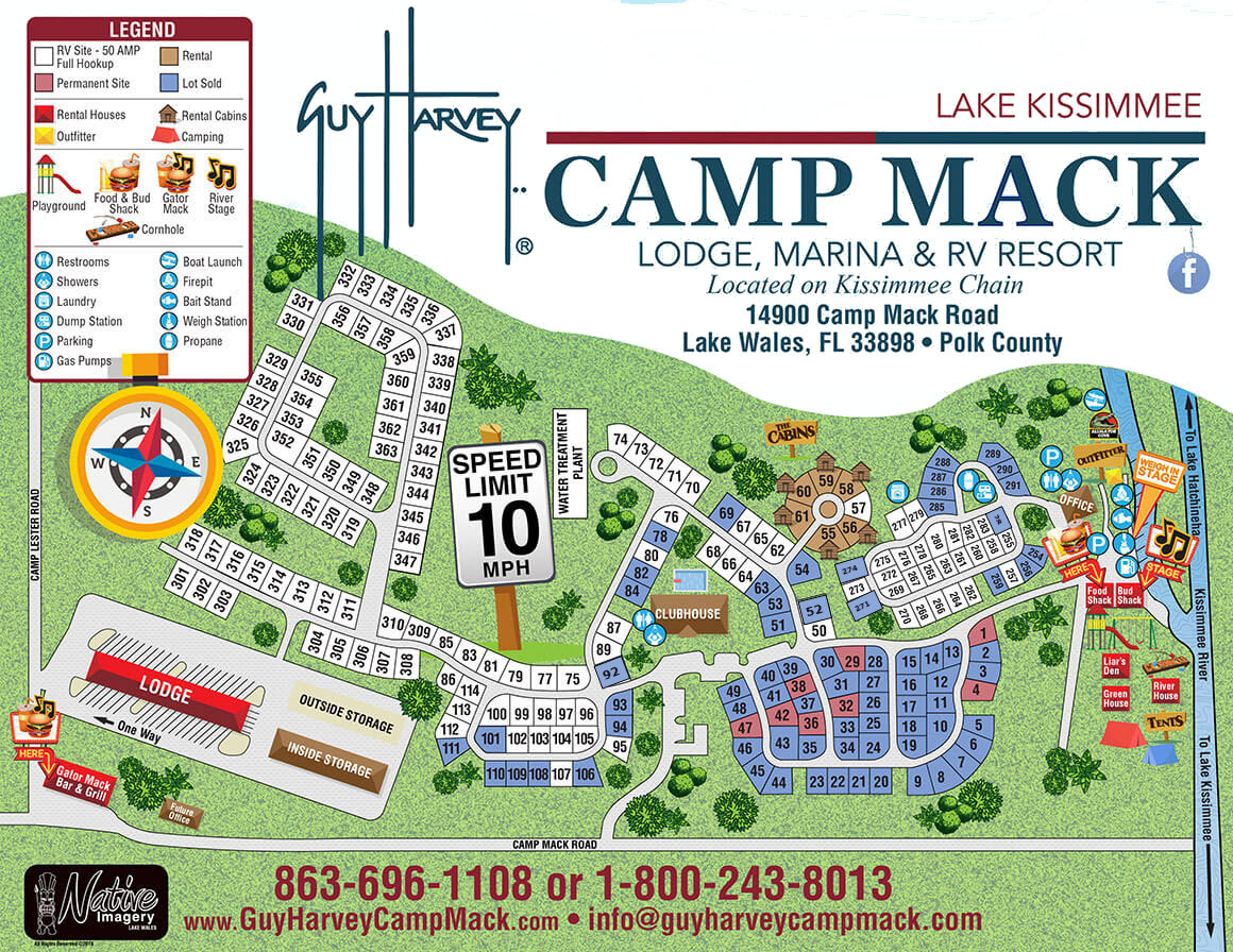 Camp Mack Map