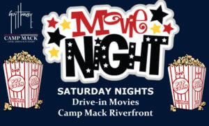 OUTDOOR MOVIE NIGHT @ THE RIVERFRONT @ Steamboat Landings @ Camp Mack, a Guy Harvey Lodge, Marina & RV Resort